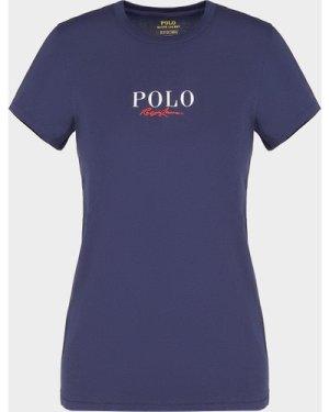 Women's Polo Ralph Lauren Signature T-Shirt Blue, Navy/Navy