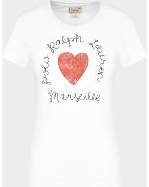 Women's Polo Ralph Lauren Heart T-Shirt White, White
