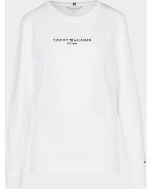 Women's Tommy Hilfiger Essential Sweatshirt White, White