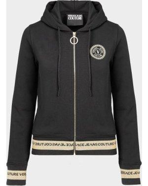 Women's Versace Jeans Couture Circle Logo Hoodie Black, Black