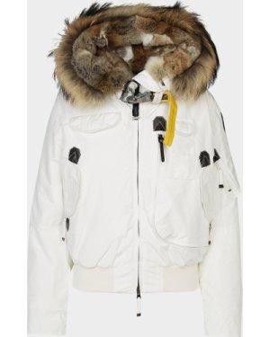 Women's Parajumpers Gobi Bomber Jacket White, White