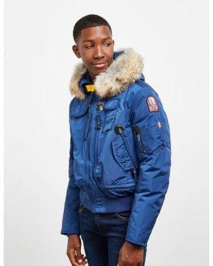 Kid's Parajumpers Gobi Fur Bomber Jacket Blue, Blue
