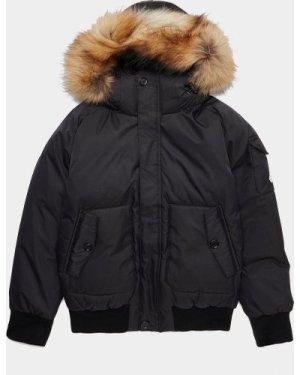 Kid's Pyrenex Jami Fur Jacket Black, Black