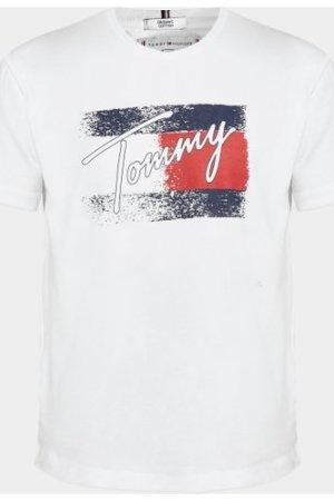 Kid's Tommy Hilfiger Flag Print T-Shirt White, White