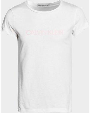 Kid's Calvin Klein Jeans Institutional T-Shirt White, White