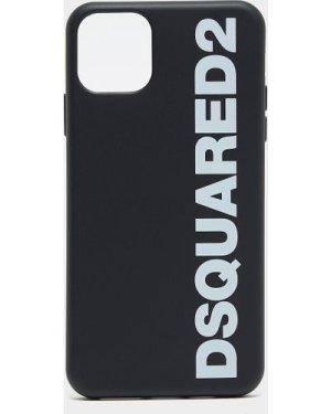 Men's Dsquared2 Logo Iphone 11 Pro Phone Case Black, Black/Black