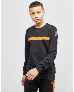 Kid's Parajumpers Stripe Logo Sweatshirt Black, Black