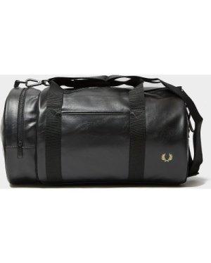 Men's Fred Perry Tonal Barrel Bag Black, Black