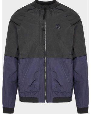 Men's Ma Strum Crinkle Nylon Bomber Jacket Multi, Black/Blue