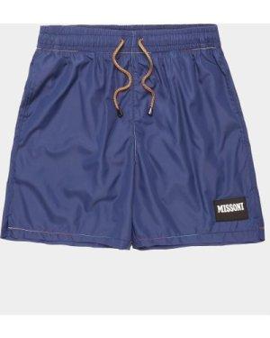 Men's Missoni Solid Swim Shorts Blue, Navy
