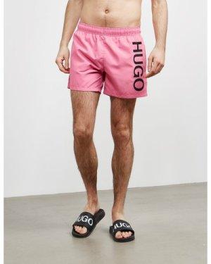 Men's HUGO Abas Swim Shorts Pink, Pink