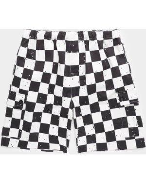 Men's Billionaire Boys Club Check Shorts White, White