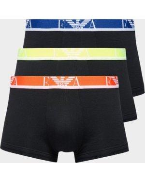 Men's Emporio Armani Loungewear 3-Pack Boxer Shorts Black, Black