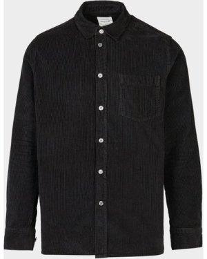 Men's Wood Wood Aske Cord Shirt Black, Black/Black