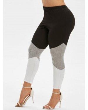 Plus Size Colorblock Ninth Leggings