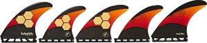 Futures Fins Quad Thruster 5 AM2 Techflex Fin Set orange