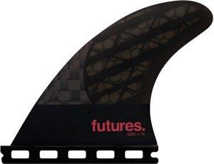 Futures Fins Quad QD2 4.15 80-20 Blackstix Fin Set smoke