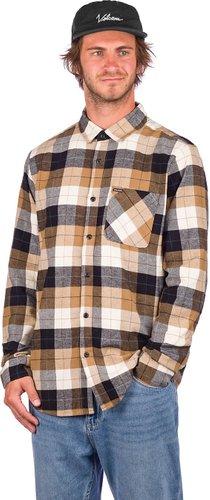 Volcom Caden Plaid Shirt primer white
