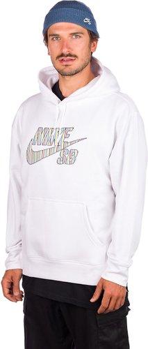 Nike SB Stripes Hoodie white