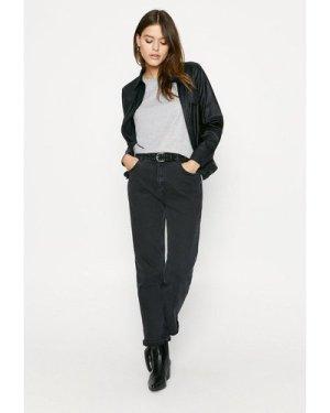 Womens Metallic Jersey T Shirt - grey, Grey