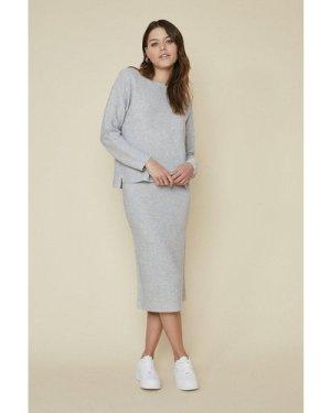 Womens Ribbed Co-ord Top - grey, Grey