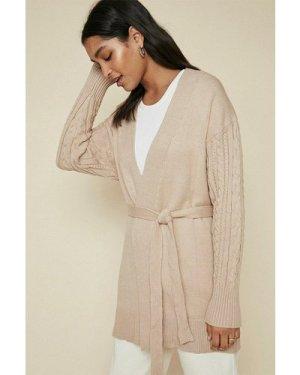 Womens Cosy stitch cardigan - camel, Camel
