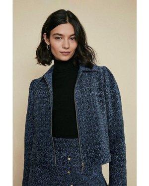 Womens Tailored Zip Through Jacket - multi, Multi