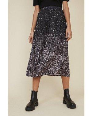 Womens Ombre Pleated Midi Skirt - multi, Multi