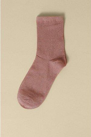 Womens Glitter Socks - pink, Pink