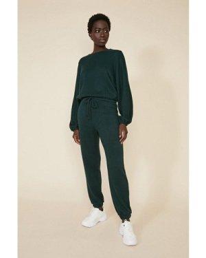 Womens Supersoft Seam Detail Loungewear Set - bottle green, Bottle Green