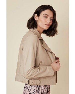 Womens Premium Leather Jacket - natural, Natural