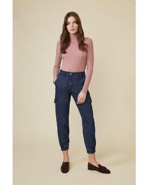 Womens Cargo Pocket Jean - rinse, Rinse