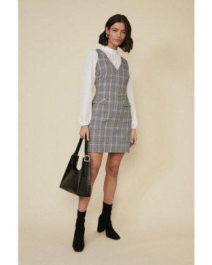 Womens Check Chiffon Sleeve Dress - multi, Multi