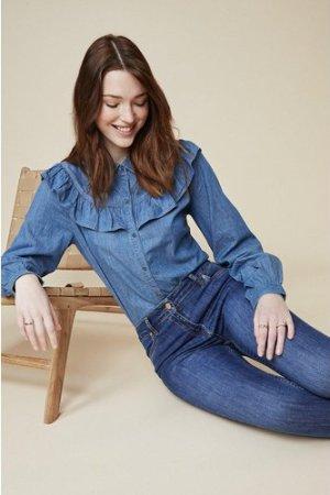 Womens Jade Organic Mid Rise Short Skinny Jean - mid wash, Mid Wash