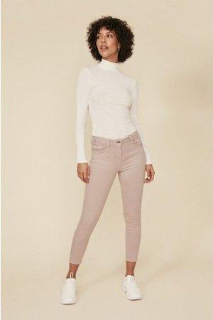 Womens Studded Pocket Detail Skinny Jean - light pink, Light Pink