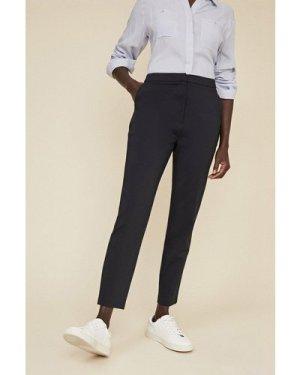 Womens Slim Leg Cotton Sateen Trouser - dark navy, Dark Navy
