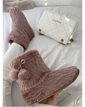 Pink Slipper Sock Boot size: Footwear 4 UK, colour: Pink