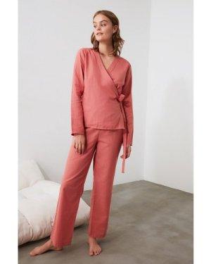 Trendyol Little Mistress x Trendyol Rose Pink Wrap Top Pyjamas size: 1