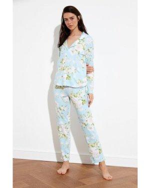 Trendyol Blue Floral  Pyjamas size: XL, colour: Blue