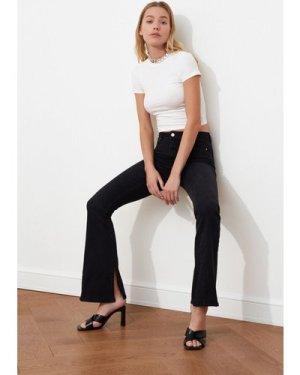 Trendyol Black Flared Jeans size: 16 UK, colour: Black