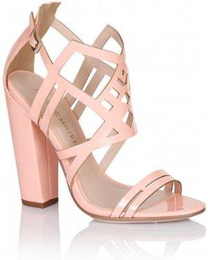 Little Mistress Footwear Pink Square Heel Strap Shoes size: Footwear 7