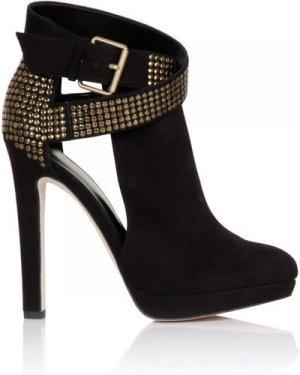 Little Mistress Footwear Black Stud Buckle Platform Boot size: Footwea