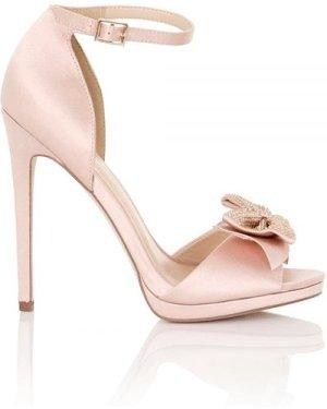 Little Mistress Footwear Hera Blush Satin Bow Heeled Sandals size: Foo