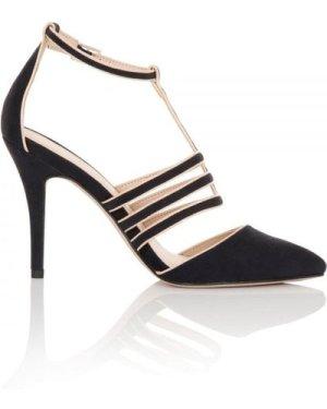 Paper Dolls Footwear Bess Navy Cage Heels size: Footwear 7 UK, colour: