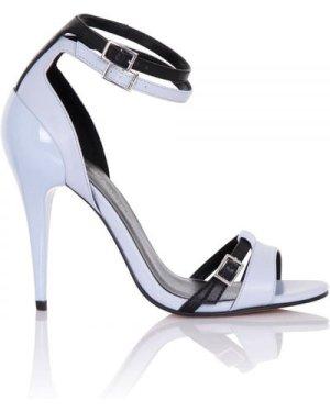 Little Mistress Footwear Andromeda Blue Contrast Strap Heel size: Foot