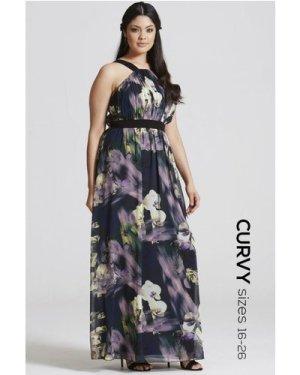 Little Mistress Curvy Floral Print Occasion Maxi Dress size: 22 UK, co