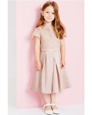 Little MisDress Pink Lace Top Dress size: 9-10 Yrs, colour: Pink