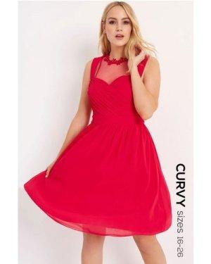 Little Mistress Curvy Cherry Applique Prom size: 20 UK, colour: Pink