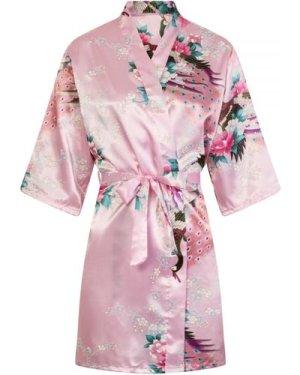 Pink Floral Nightwear Kimono size: ONE SIZE, colour: Print