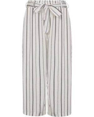 Stripe Cropped Trousers size: L, colour: Black / White